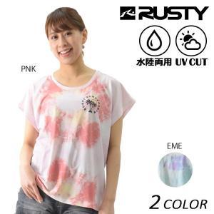 SALE セール 20%  レディース 半袖 Tシャツ 水陸両用 RUSTY ラスティー 937434 EX1 D18 murasaki