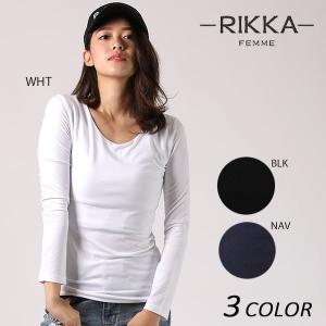 レディース 長袖 Tシャツ RIKKA FEMME リッカファム 171034 EE3 I12|murasaki