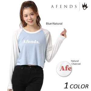 【数量限定】 レディース 長袖 Tシャツ AFENDS アフェンズ Cheers-Long-Sleeve Tee 50-10-005-F EE3 I16|murasaki