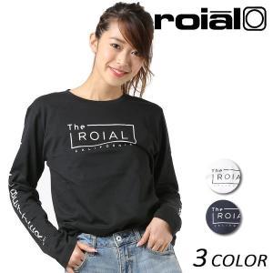 レディース 長袖 Tシャツ roial ロイアル GTS388 FF1 L19|murasaki