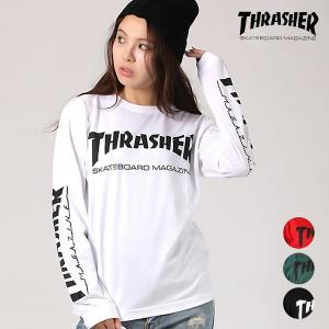 レディース 長袖 Tシャツ THRASHER スラッシャー TH8301-SL EE3 I12|murasaki
