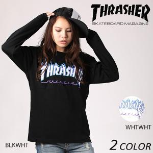 レディース 長袖 Tシャツ THRASHER スラッシャー TH93130-L EE3 I12|murasaki