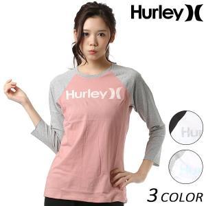 レディース 七分袖 Tシャツ Hurley ハーレー AA0791 FF1 A11 MM|murasaki