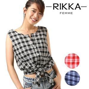 SALE セール レディース ノースリーブ シャツ RIKKA FEMME リッカファム R18S2402 FF1 F8|murasaki