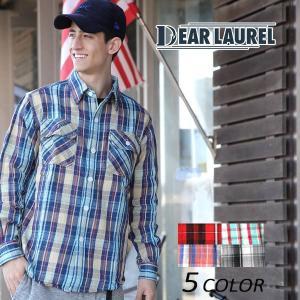 SALE セール メンズ 長袖 シャツ DEAR LAUREL ディアローレル 172601 EE3 I22|murasaki