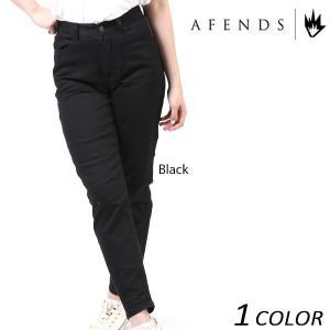 レディース ロング パンツ AFENDS アフェンズ Luckies-Black-High Waist Slim Jeans 53-02-006-D EE1 C14|murasaki