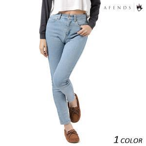 SALE セール レディース ロングパンツ AFENDS アフェンズ Zeppeline Stone Blue-Waist Skinny Jeans 53-01-018-F EE3 I16|murasaki