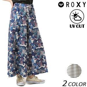 レディース ロング パンツ ガウチョ ROXY ロキシー RLY181053 FX1 C13 murasaki