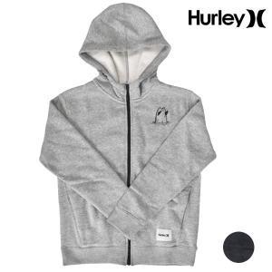 キッズ ジップアップ パーカー Hurley ハーレー AO2211 (130cm〜160cm) 男の子 女の子 カジュアル トップス 長袖 秋 冬 ジュニア FF3 H13|murasaki