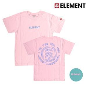 キッズ トップス 半袖 Tシャツ ELEMENT エレメント AI025-210 (130cm〜160cm) 男の子 女の子 カジュアル 春 夏 FX3 G5 murasaki