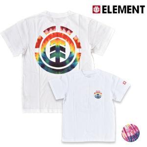 キッズ トップス 半袖 Tシャツ ELEMENT エレメント AI025-321 (130cm〜160cm) 男の子 女の子 カジュアル タイダイ 春 夏 FX3 G5 murasaki