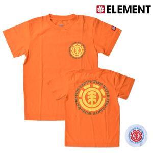 キッズ トップス 半袖 Tシャツ ELEMENT エレメント AI026-200 (130cm〜160cm) 男の子 女の子 カジュアル 春夏 春 夏 秋 FX3 G27 murasaki