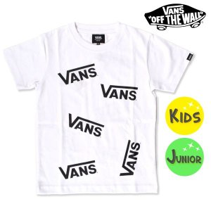 SALE セール キッズ 半袖 Tシャツ VANS バンズ VA18HS-KT05 (100cm〜160cm) FF2 F4 murasaki