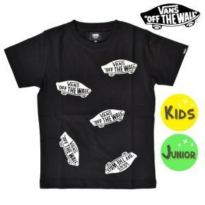 SALE セール キッズ 半袖 Tシャツ VANS バンズ VA18HS-KT06 (100cm〜160cm) FF2 F4 murasaki