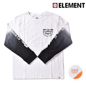 キッズ トップス 長袖 Tシャツ ELEMENT エレメント AI026-061 (130cm〜160cm) 男の子 女の子 カジュアル 春夏 春 夏 秋 ロンT FX3 G27|murasaki