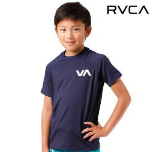 キッズ 半袖 ラッシュガード RVCA ルーカ AI045-850 FF1 D26|murasaki