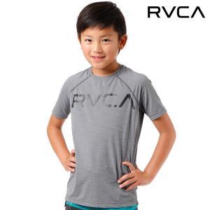 キッズ 半袖 ラッシュガード RVCA ルーカ AI045-851 FF1 D26|murasaki