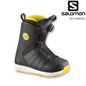 送料無料 キッズ スノーボード ブーツ SALOMON サロ...