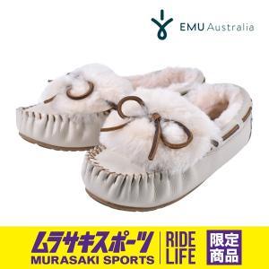 レディース シープスキン emu エミュー Amity Cuff Leather アミティカフレザー W12006 ファー シューズ ムラサキスポーツ限定 FF3 H24 MM|murasaki