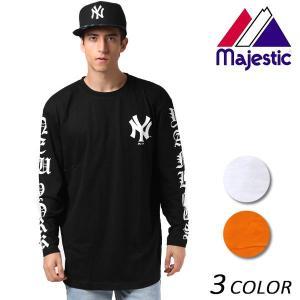 メンズ 長袖 Tシャツ Majestic マジェスティック MM03-NYK-7FMS01 EX3 J3|murasaki