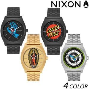 送料無料 時計 NIXON ニクソン TIME TELLER タイムテラー NIXON×SANTA CRUZ A045 EE K27 murasaki