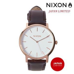 時計 NIXON ニクソン PORTER LEATHER A1058 2524 FF G5|murasaki