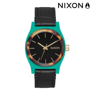 時計 NIXON ニクソン THE MIDIUM TIME TELLER LEATHER ミディアムタイムテラーレザー A1172 2707 FF G5|murasaki