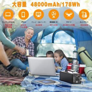 NEXPOW ポータブル電源 178 大容量48000mAh/178Wh 蓄電池 家庭用 PSE認証...