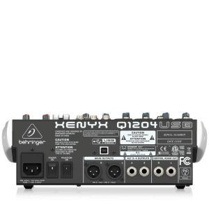 ベリンガー Q1204USB 12入力2/2バスミキサー USB/オーディオインターフェース