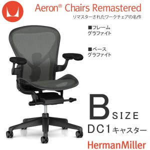 アーロンチェア リマスタード Bサイズ グラファイトフレーム グラファイトベース DC1キャスター ポスチャーフィットSL|muratakagu