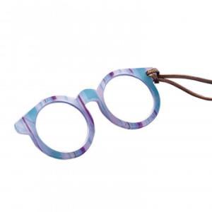 メガネ型ペンダントルーペ  ストライプ 1.6倍 拡大鏡 読書 携帯用|muratakagu