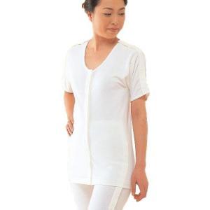 コベス ワンタッチ肌着 婦人前開き両肩腕開き5分袖|muratakagu