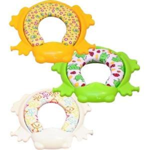 リトルプリンセス かえるのふかふかステップ式トイレトレーナー 幼児用ステップ付補助便座|muratakagu