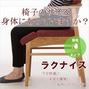 ダイニングチェア ラクナイス イージークリーンタイプ 女性にやさしい椅子 腰痛 肩こり 猫背 福祉 高齢者 健康|muratakagu