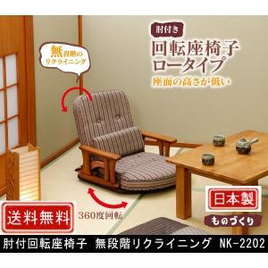 肘付回転座椅子 無段階リクライニング NK-2202 muratakagu