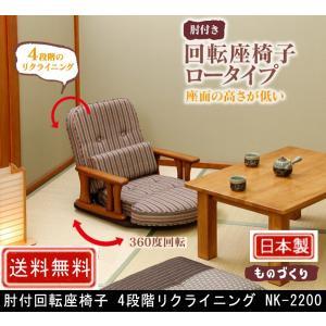 肘付回転座椅子 4段階リクライニング NK-2200 muratakagu