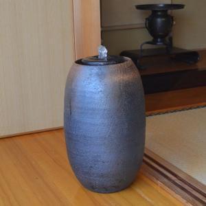 a.small水琴窟 琴音 S-5 窯自然釉     利休信楽水琴窟 muratakagu