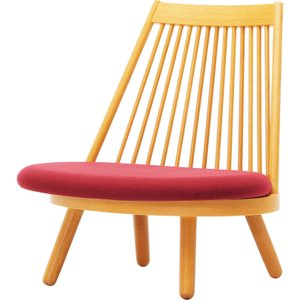 天童木工 スポークチェア S-5027NA-ST(あぐら椅子) 張地グレードL|muratakagu
