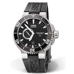 オリス 腕時計 ORIS 正規3年保証 アクイス チタン スモールセコンド デイト 743.7664...