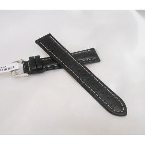 時計ベルト 腕時計バンド MORELLATO モレラート バンド PLUS プラス ブラック 黒 皮革 革ベルト 革バンド 送料無料|muratatokei