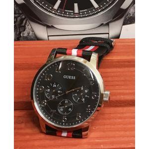 腕時計 GUESS ゲス メンズウォッチ クォーツ ナイロンベルト W0975G1 プレゼント 正規品 送料無料 ラッピングサービス|muratatokei