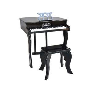 Schoenhut/シェーンハット  372B 37-Key Black Elite Baby Grand Piano and Bench【トイピアノ】【37鍵盤】の画像