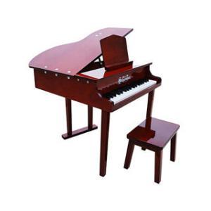 Schoenhut/シェーンハット  379M 37-Key Mahogany Concert Grand Piano and Bench【トイピアノ】【37鍵盤】の画像
