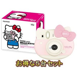 FUJIFILM/フジフイルム  チェキ instax mini ハローキティ ×5台セット murauchi3