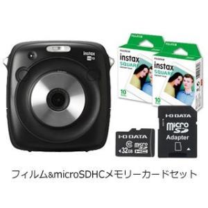 FUJIFILM/フジフイルム  instax SQUARE SQ10+専用フィルム2パック+防水microSDHCメモリーカードセット murauchi3