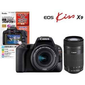 CANON/キヤノン  EOS Kiss X9(ブラック)・ダブルズームキット+液晶プロテクターセット|murauchi3
