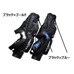 LEZAX/レザックス  USCB-7213 U.S.Athletes 6.5型スタンド付き キャディバッグ (ブラック×ブルー) murauchi3
