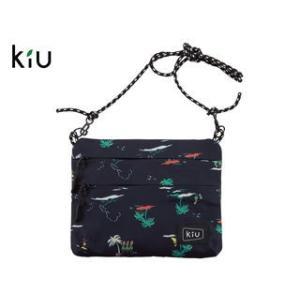 kiu/キウ  K67-106 防水 サコッシュ W ジッパー 【W22.5cm×H17.5cm】 ...