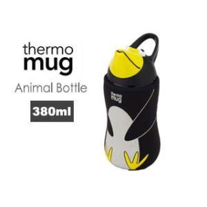 thermo mug/サーモマグ  【在庫限り】5155AM アニマルボトル ペンギン (ブラック)