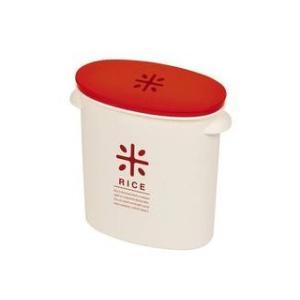 パール金属  RICE お米袋のままストック 5kg用 レッド (ライスストッカー ライスボックス ...